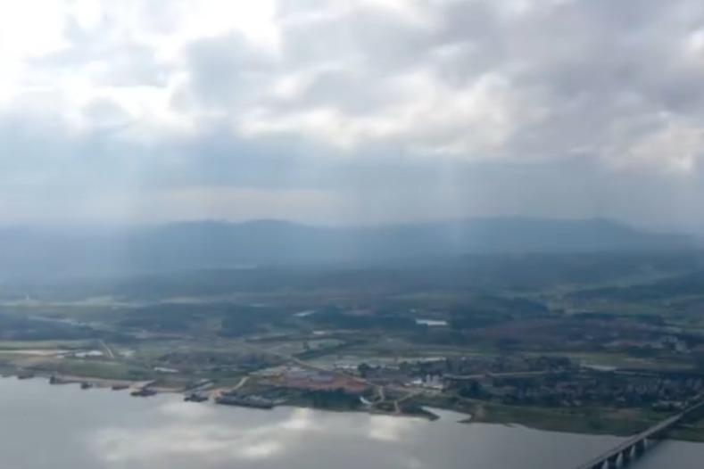 江西新干:雨后云雾美如画