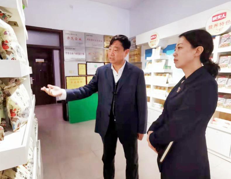 睢阳区法院院长走访省人大代表优化营商环境