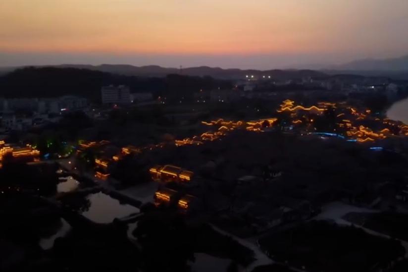 江西吉安:夜游渼陂古村