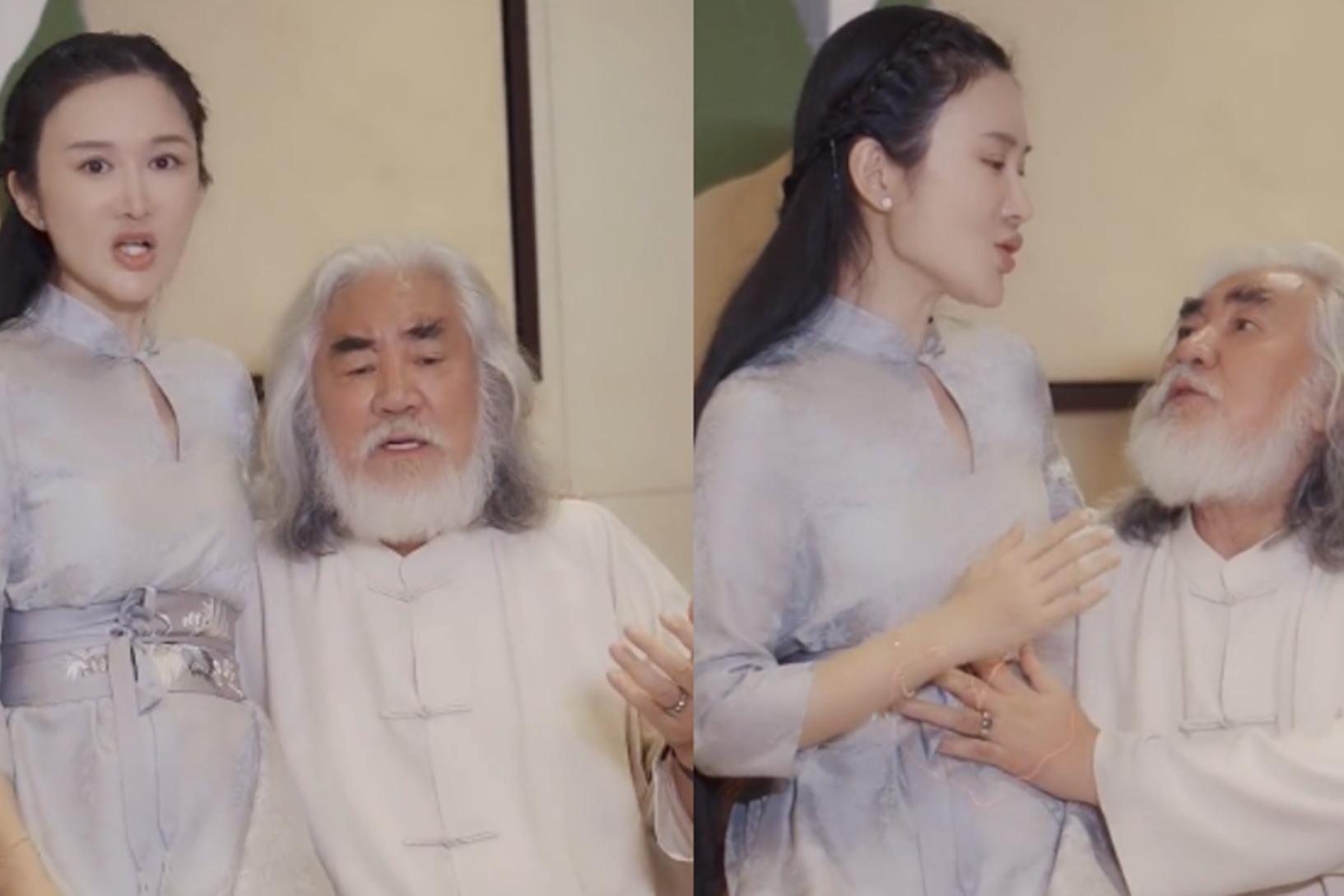 70岁张纪中秀恩爱,搂着小31岁娇妻对唱情歌,网友直呼受不了
