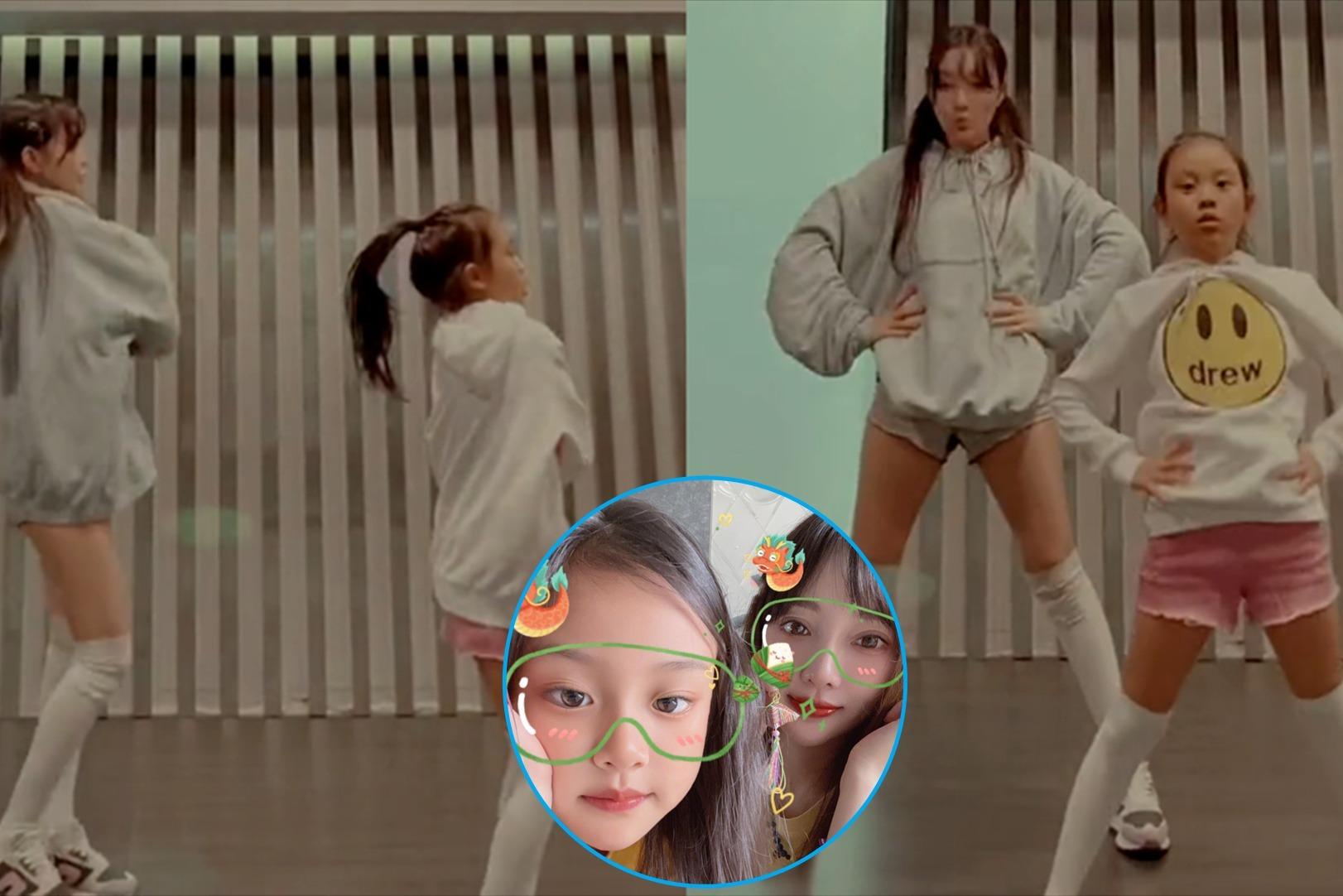 女团范十足!李小璐与女儿穿亲子装跳舞 甜馨动作流畅不输妈妈
